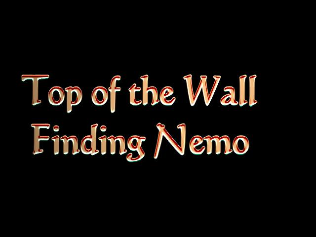 Webster - Finding Nemo Top of the Wall